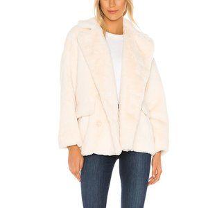 Free People Solid Kate Faux Fur Coat Jacket. M, XS